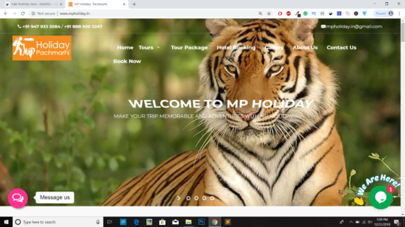 MP Holiday -Website design in India MaMITs