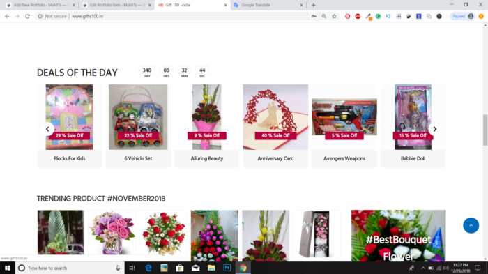 Gifts 100 | Free ecommerce website design in india MaMITs