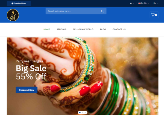 Ak World - Free ecommerce website and android app   MaMITs, India