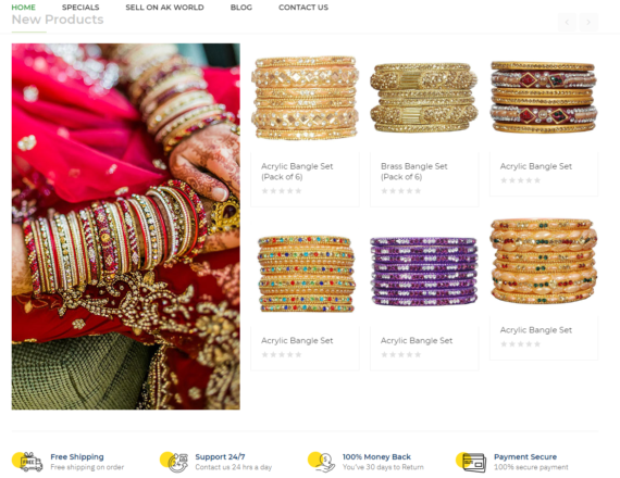 Ak World - Free ecommerce website and android app | MaMITs, India